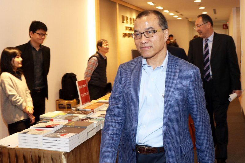 20170414-前交通部長葉匡時下午出席學者法蘭西斯•福山的「從歷史的終結到民主的崩壞」講座。(蘇仲泓攝)