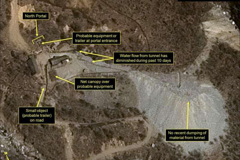 北韓近日可能會試爆核彈,這是咸鏡北道吉州郡豐溪里核子試驗場(AP)