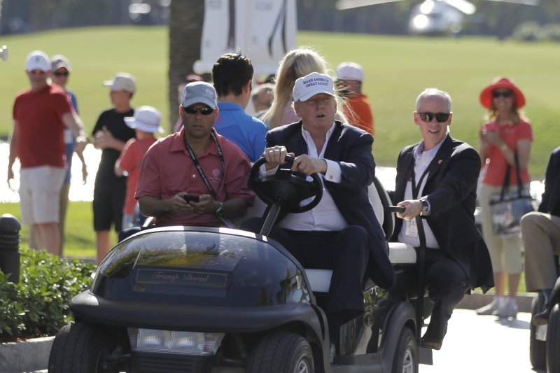 美國總統川普上任不到3個月,已證明自己是歷來最愛打高爾夫球的美國總統。(AP)