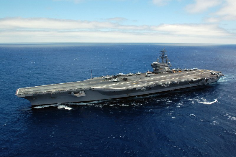 雷根號核動力航空母艦。(維基百科/公有領域)