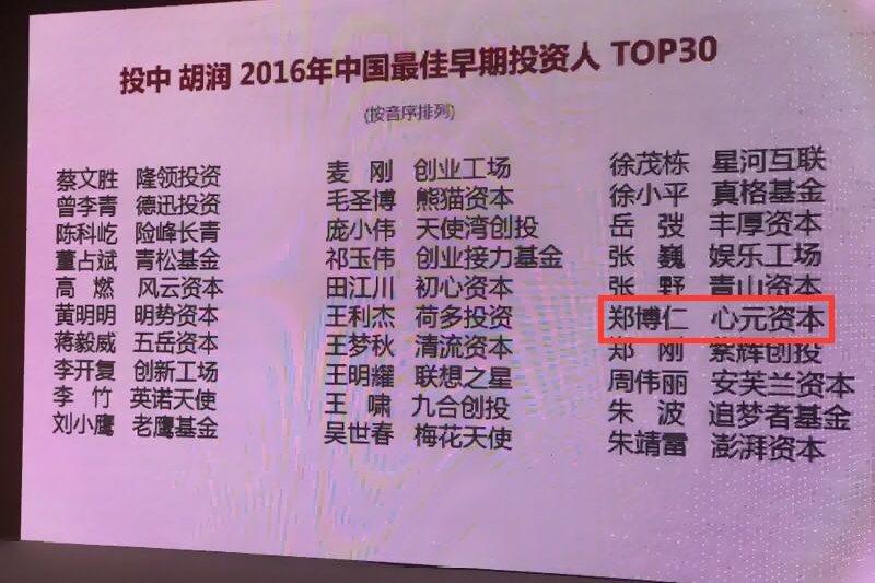 2017-04-18-心元資本17日宣布獲得中國權威投資媒體投中信息的榜單認可,選為「最佳早期創業投資機構TOP20」與「最佳跨境早期投資人TOP20」03-心元資本提供