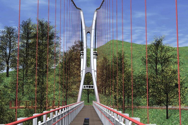 太平雲梯可遠眺嘉南平原直至台灣海峽,創造阿里山國際旅遊新亮點。(圖/阿里山管理處提供)