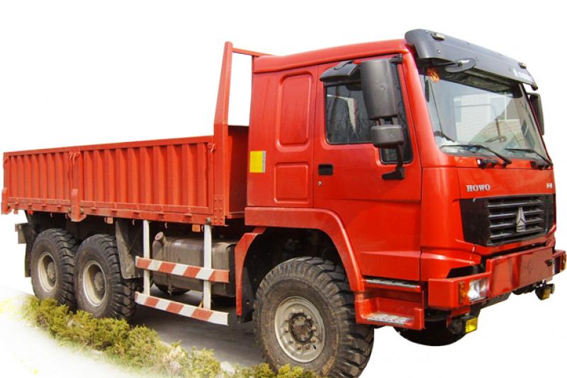 中國豪沃的ZZ2257N5857A HOWO 6×6卡車。
