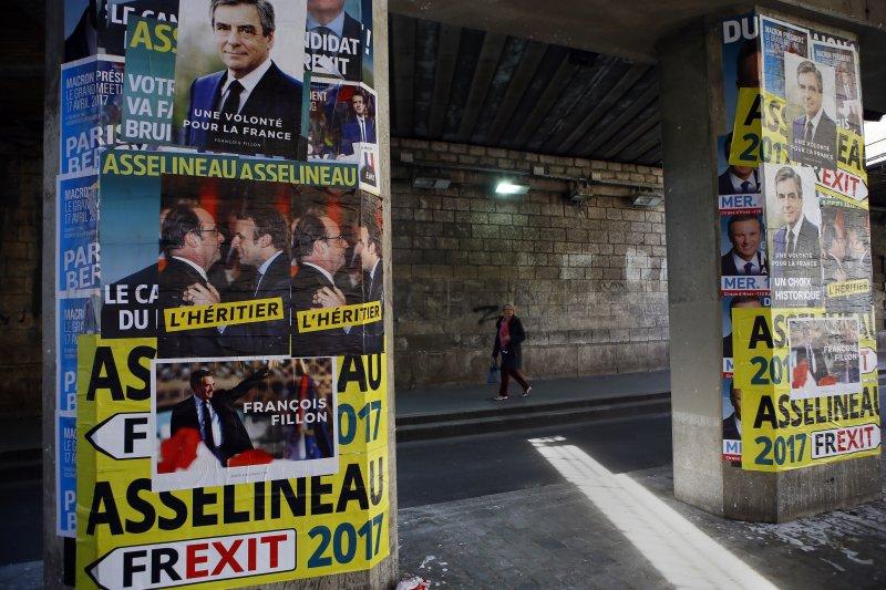 法國總統大選首輪投票即將登場,這場選戰被稱為法國史上最難預測的總統大選(美聯社)