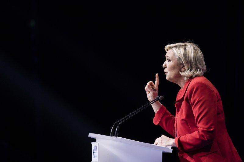 法國總統大選,極右派政黨民族陣線的候選人瑪琳.勒潘(Marine Le Pen)(AP)