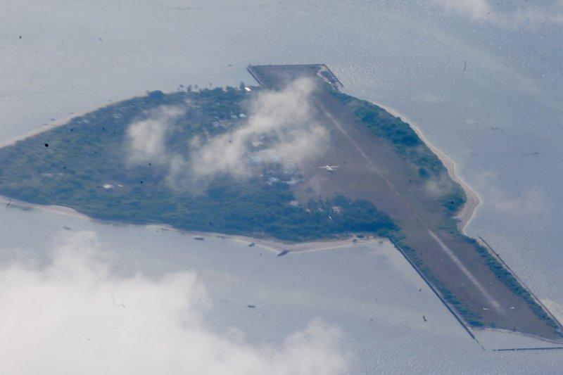 南海,中業島(Thitu Island)(AP)