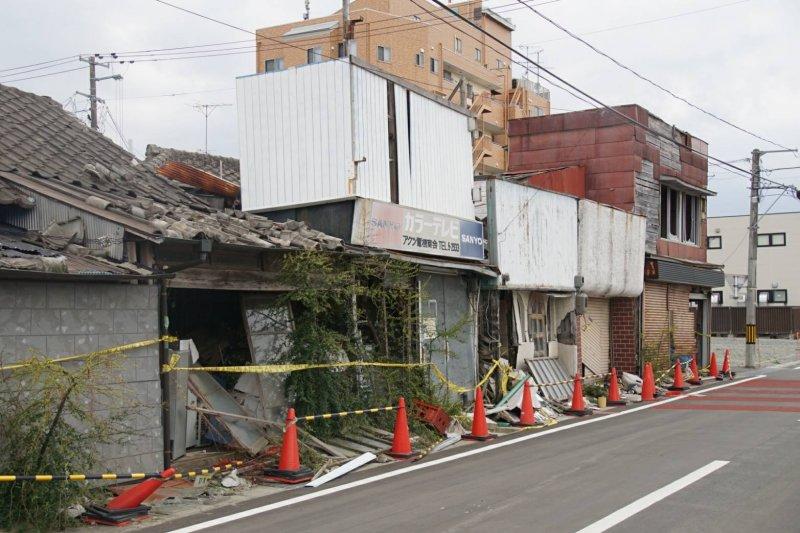 福島核災後,小鎮浪江町才剛除污完成,在這個月一號開始對外開放,是目前離核電廠最近的開放區。(盧逸峰攝)