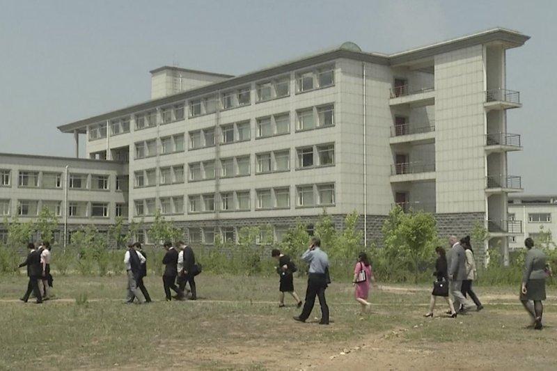 北韓平壤科技大學(圖)1名韓裔美籍教授金盛德遭北韓關押(AP)