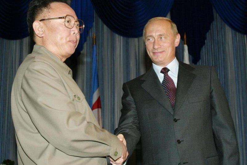 金正日訪問俄羅斯(圖片來源:法新社/想想論壇提供)