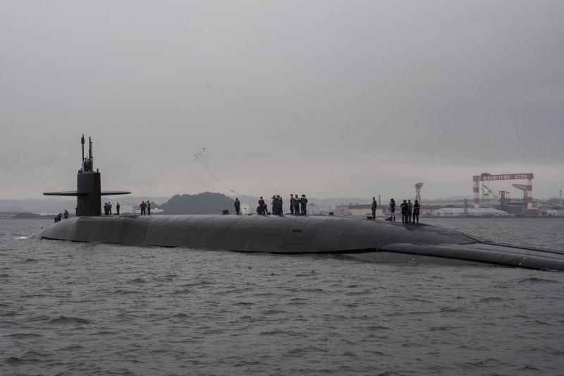 美軍俄亥俄級飛彈潛艦「密西根號」。(美國海軍官網)