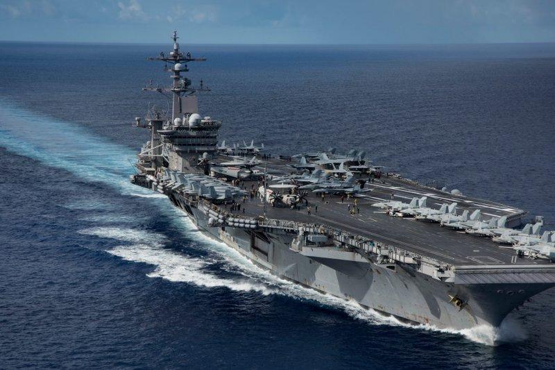 美國卡爾文森號航空母艦。(卡爾文森號臉書)