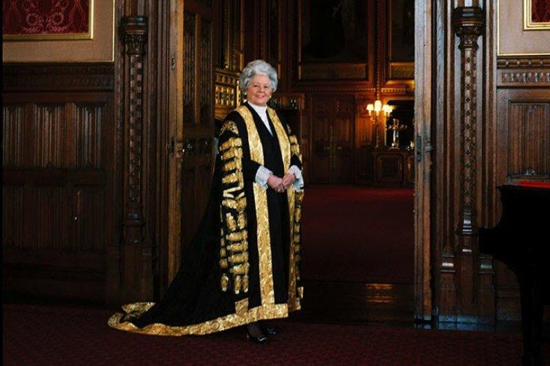 英國下議院700多年來首位女議長貝蒂・布思羅伊德(翻攝網路)