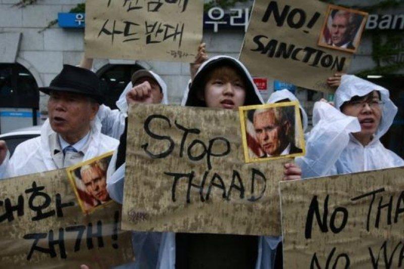 美國副總統彭斯最近訪問南韓時也遭到當地民眾抗議。(BBC中文網)