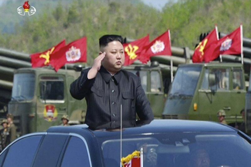 北韓最高領導人金正恩。(AP)