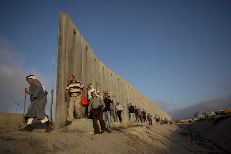 以色列,巴勒斯坦,隔離牆,屯墾區。(美聯社)