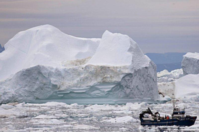 北極地區的冰山。(美國之音)
