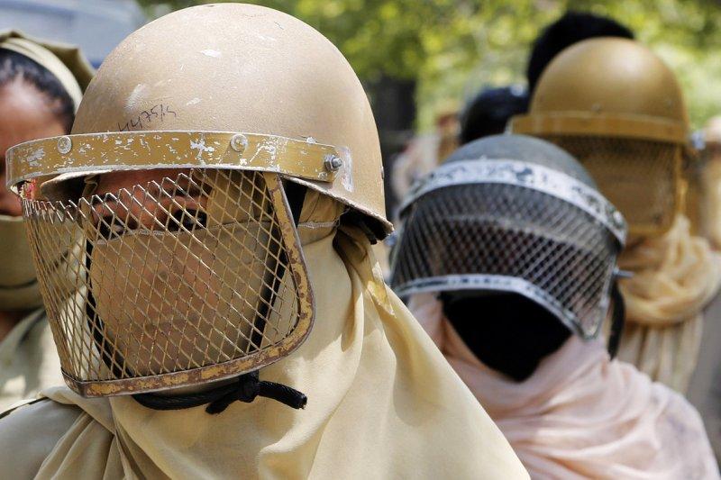 印度,查謨-喀什米爾邦(Jammu and Kashmir),抗議。(AP)