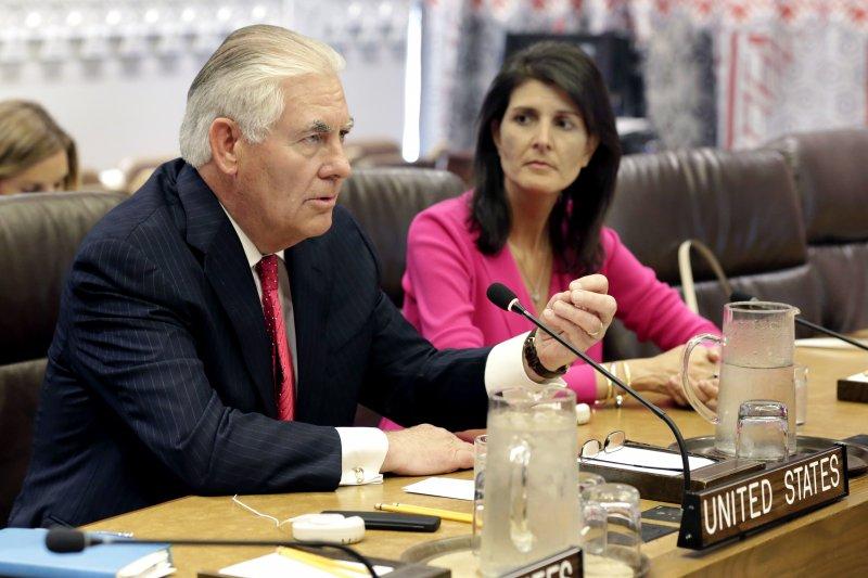 美國國務卿提勒森希望中國能在朝鮮半島問題上加大施壓力道。(美聯社)
