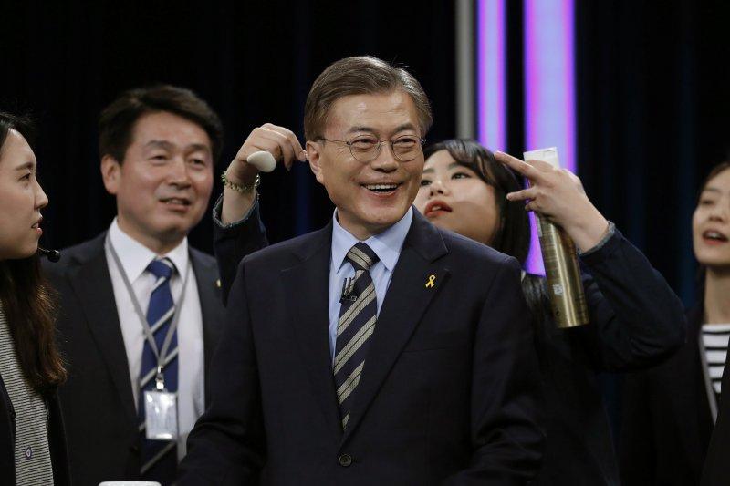 南韓總統大選,共同民主黨候選人文在寅(AP)