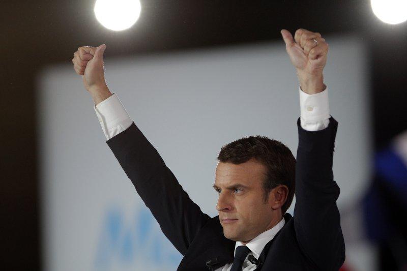 法國總統候選人馬克宏,號稱將改變法國政壇沉痾。(美聯社)