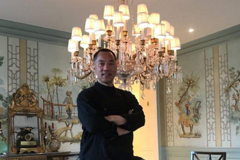 郭文貴在紐約的家裡。(郭文貴推特)