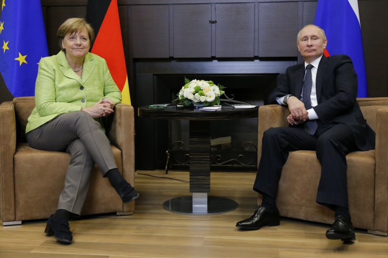 德國總理梅克爾與俄羅斯總統普京(AP)
