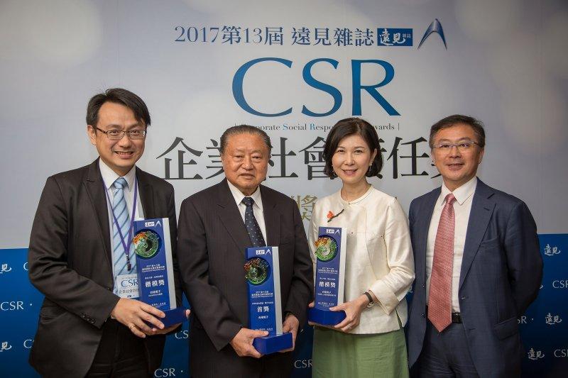 台達榮獲《遠見雜誌》第13屆「企業社會責任獎」三項大獎,為歷屆評比中同時獲得首獎與楷模獎最多企業。(圖/台達電子提供)