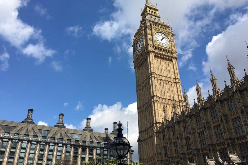 英國國會。(魏嘉瑀攝)