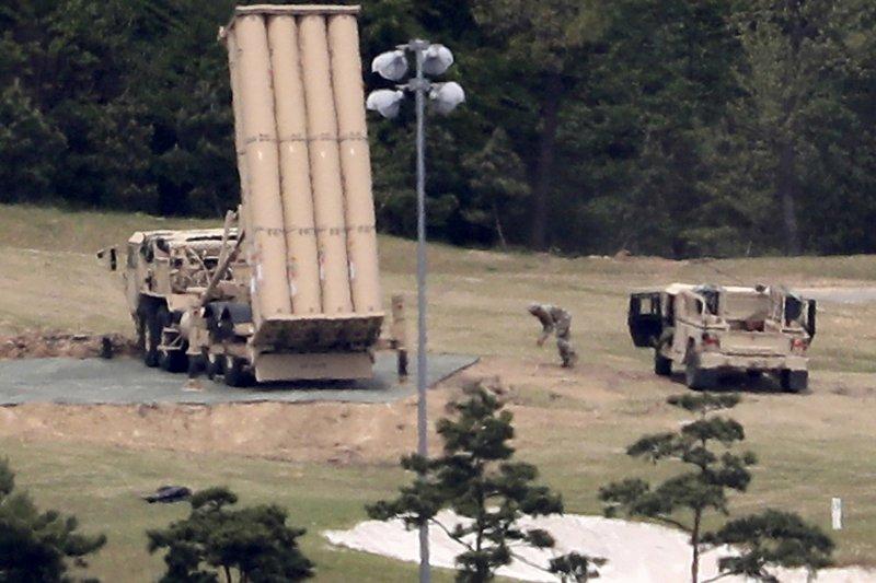 部署在南韓慶尚北道星州郡的薩德反飛彈系統。(美聯社)