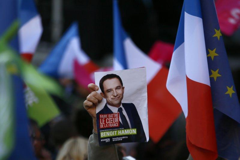 2017法國總統大選,法國社會黨候選人阿蒙(AP)