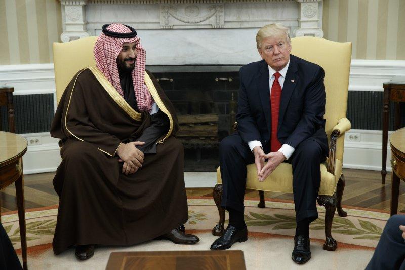 今年3月,沙烏地阿拉伯副王儲穆罕默德.薩勒曼親王訪美,並與總統川普會晤(AP)