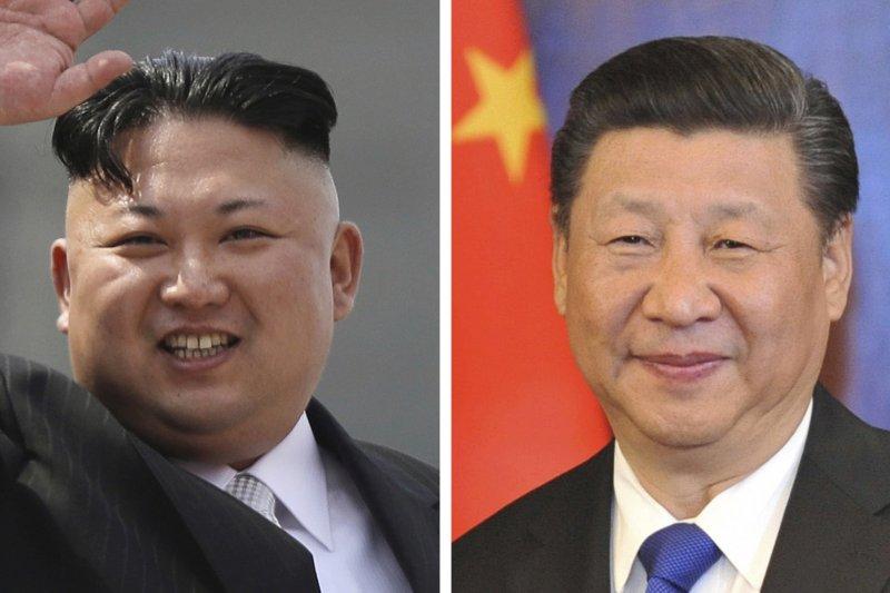 中國領導人習近平與北韓領導人金正恩(美聯社合成)