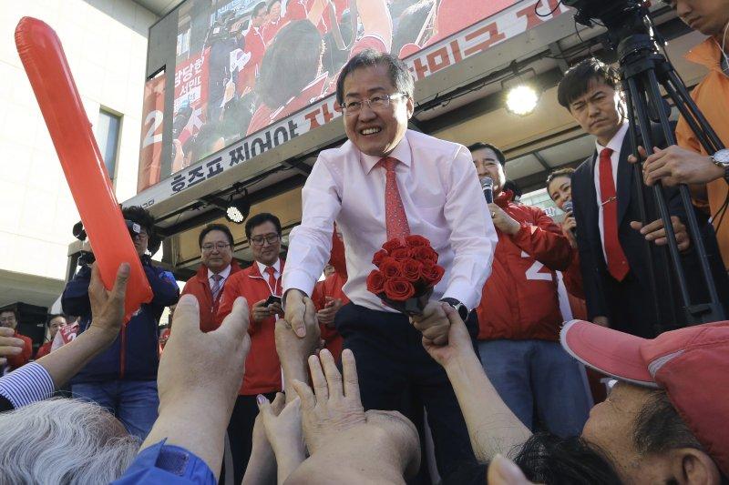 南韓總統候選人洪準杓。(美聯社)