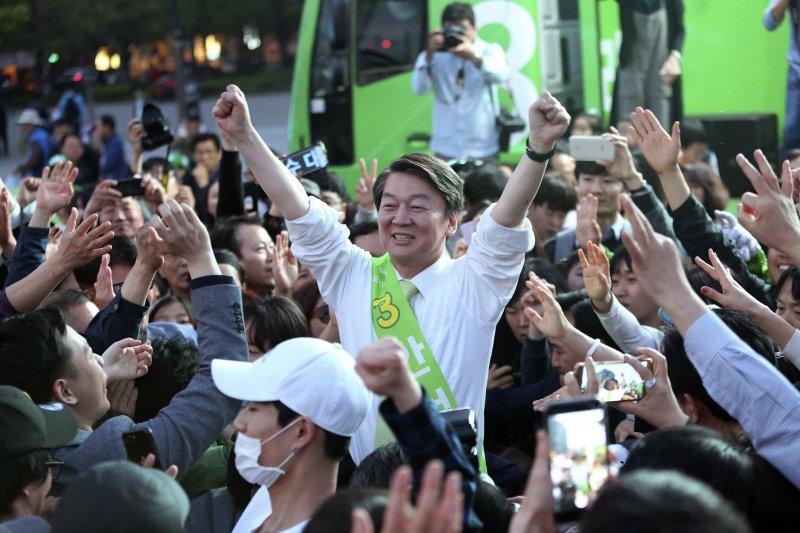 南韓總統大選,南韓總統候選人安哲秀。(美聯社)