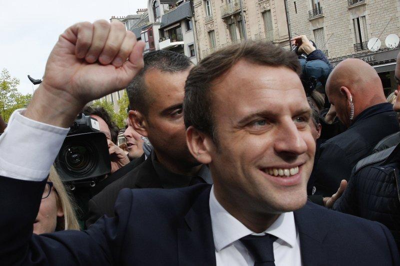 現年39歲的馬克宏成為法國史上最年輕總統(AP)
