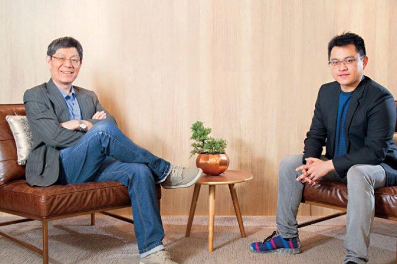 上海交大連鎖經營企業總裁EMBA 教授 李明元(左)、iFit 愛瘦身董事長 謝銘元(右)。(攝影者.郭涵羚)