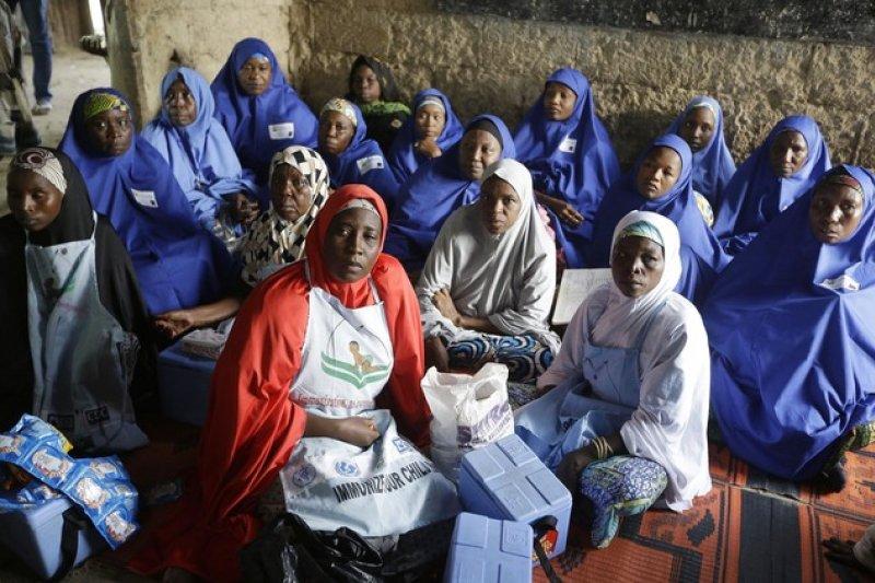 奈及利亞、小兒麻痺、博科哈蘭。(AP)
