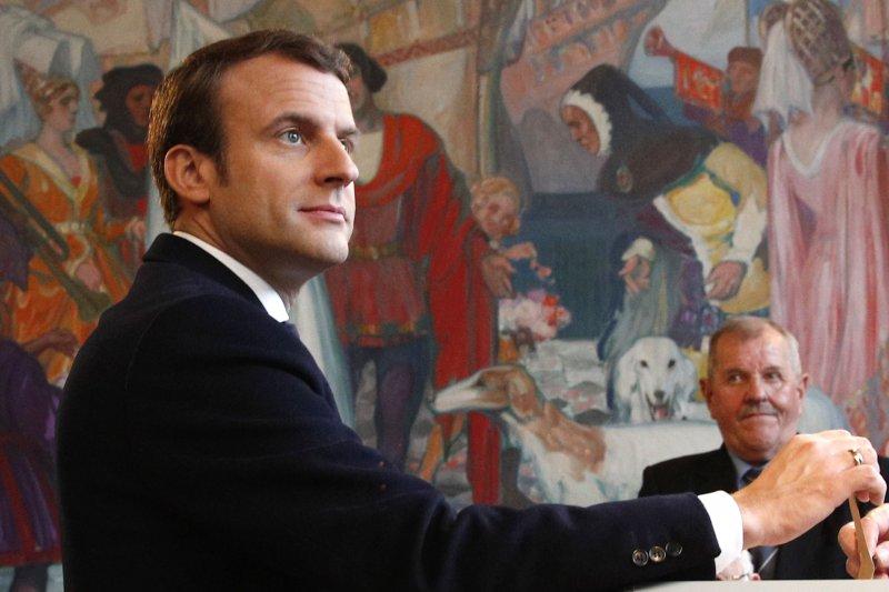 法國總統大選候選人馬克宏(AP)