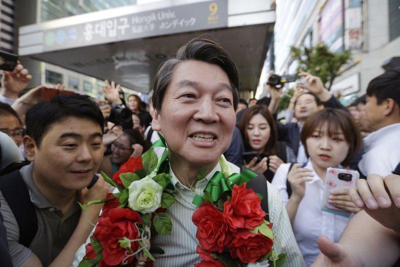 南韓總統大選:國民之黨候選人安哲秀(AP)