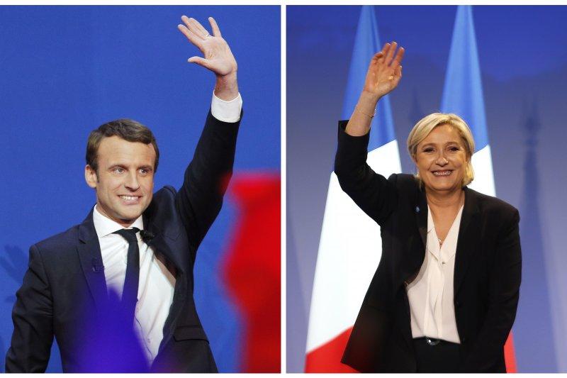 法國2017年總統選舉候選人,馬克宏與勒潘(AP)