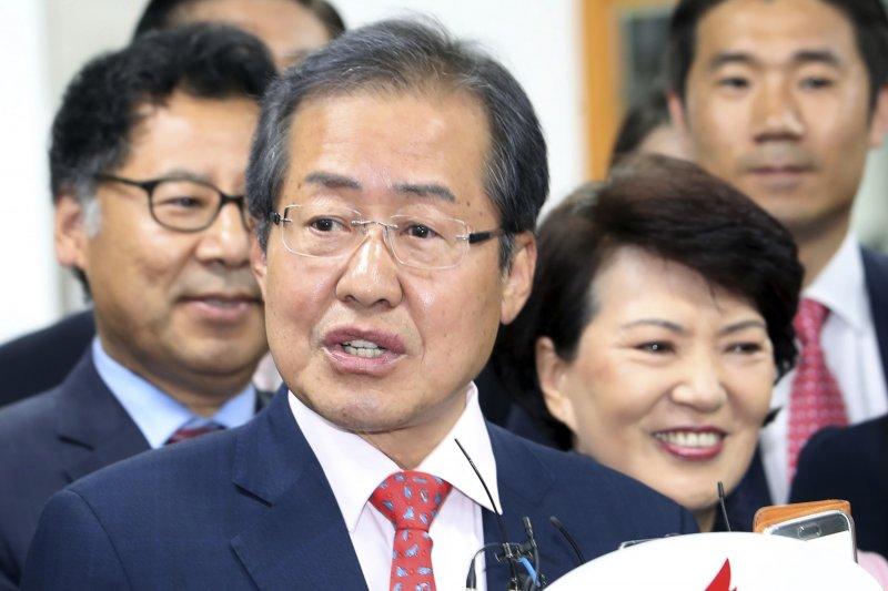 自由韓國黨候選人洪準杓。(美聯社)