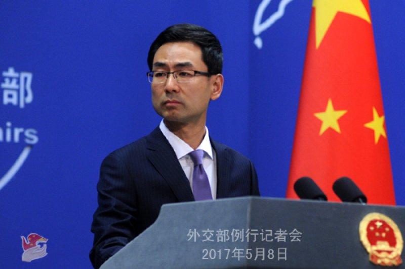 中國外交部發言人耿爽。(中國外交部網站資料照)