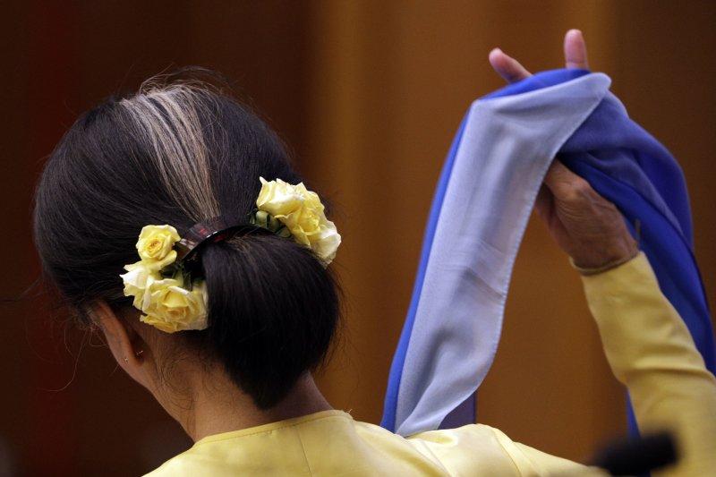 緬甸實際領導人、國務資政翁山蘇姬已非過去人人讚養的民主領袖(AP)