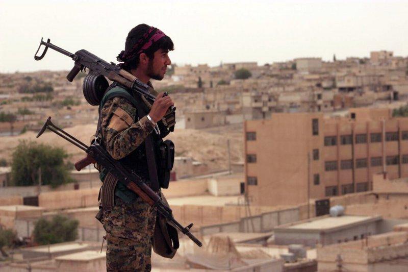 敘利亞民主軍的庫德族民兵。(美聯社)