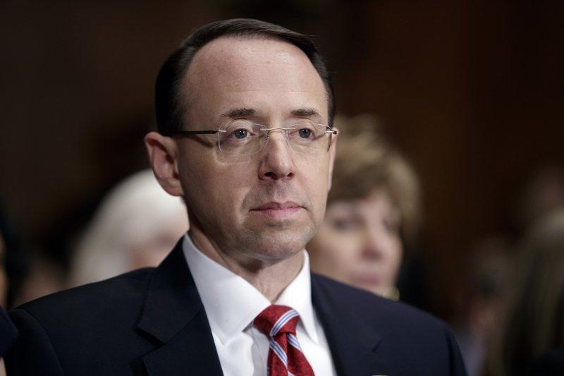 美國司法部副部長羅森斯坦(Rod Rosenstein),聯邦調查局(FBI)前局長柯密遭革職的關鍵人物(AP)