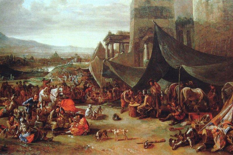 Johannes Lingelbach的畫作「羅馬浩劫」。(維基百科/公用領域)