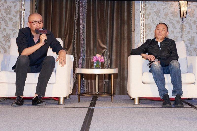 導演管虎與程耳特別飛抵台灣進行「江湖對談」,暢談彼此創作理念與緬懷美好年代。(圖/甲上娛樂提供)