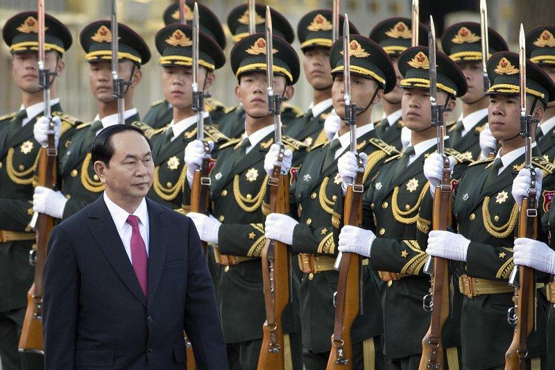 越南主席陳大光。(美聯社)