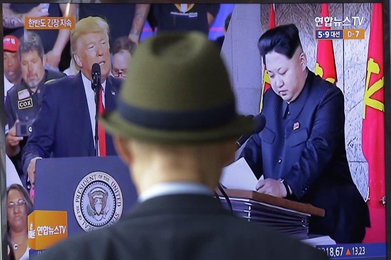 朝鮮半島雖然一度戰雲密佈,川普與金正恩的態度一直讓人捉摸不定。(美聯社)