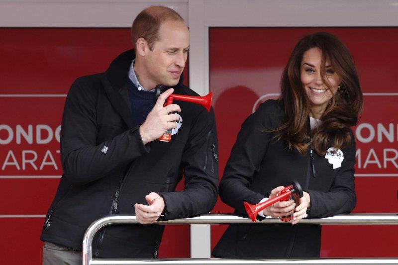 英國威廉王子與凱特王妃(AP)